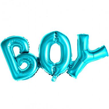 Ballon Aluminium Bleu Boy