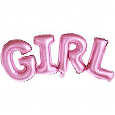 Ballon Foil Girl Rose