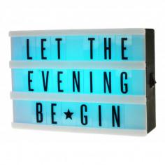 Cinema Light Box mit Buchstaben