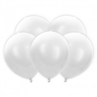 Ballon Led Blanc - Lot de 5