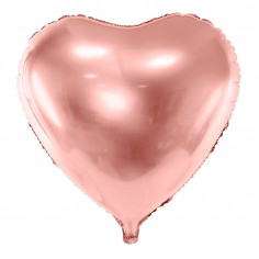Ballon Aluminium Coeur Rose Gold