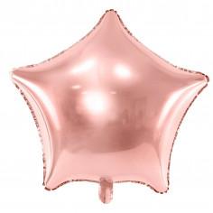 Ballon Aluminium Etoile Rose Gold