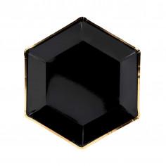 Schwarz-Gold-Platte - 6er-Set