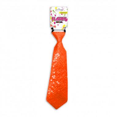 Cravate Fluo à Sequin