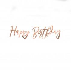Guirlande Rose Gold Happy Birthday