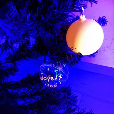 Boule de Noëm Fluorescente