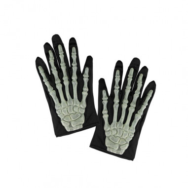 Handschuhe Skelett mit Phosphoreszierenden