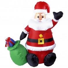 Père Noël Gonflable Lumineux