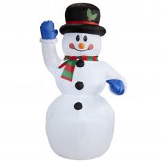 Leuchtender aufblasbarer Schneemann