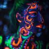 Box Farbe Neon-Körper & Gesicht