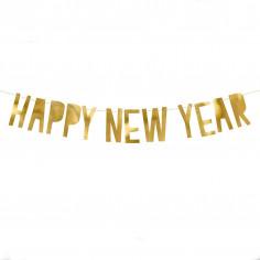 Goldene Frohes Neues Jahr-Girlande