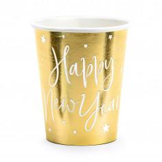 Gobelet Doré Happy New Year - Lot de 6
