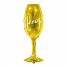Ballon Aluminium Flûte à Champagne Doré