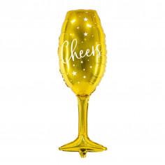 Ballon Aluminium Verre à Champagne Doré