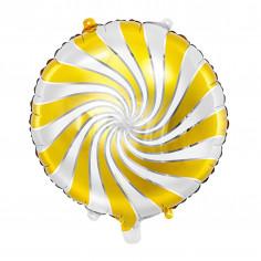 Weiß und Gold Candy Aluminium Ballon
