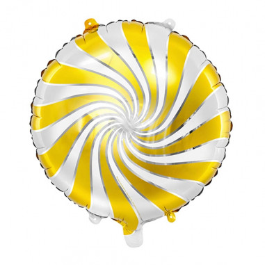 Ballon Aluminium Candy Blanc et Doré