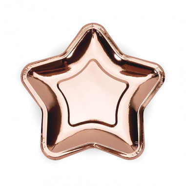 Assiette Rose Gold Etoile - Lot de 6
