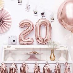 Ballon Aluminium Chiffre Rose Gold