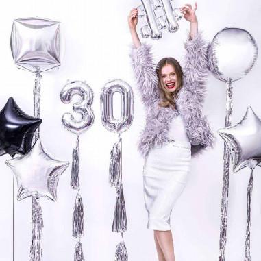 Ballon Aluminium Chiffre Argenté