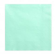 Serviette Verte Pastel - Lot de 20