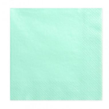 Lot de 20 Serviettes Vertes Pastels