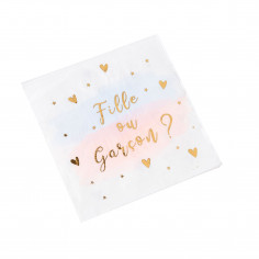 Serviettes Fille ou Garçon - Lot de 16