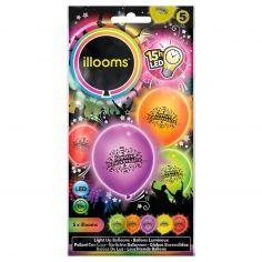 Ballon Lumineux Joyeux Anniversaire - Lot de 5