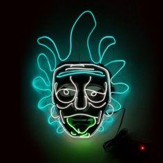 Masque Led Rick et Morty