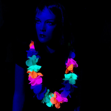 Collier Fluo Hawai Multicolore