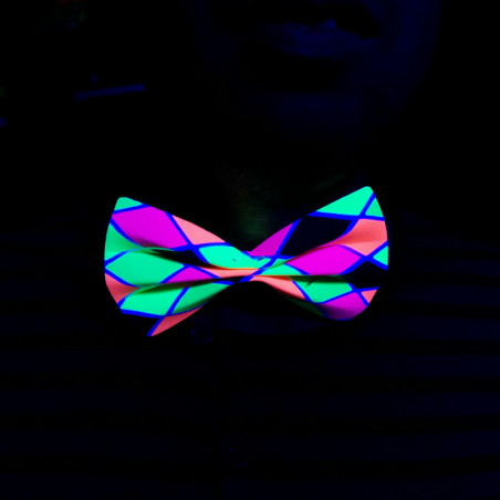 Noeud Papillon Fluo Arlequin