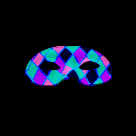 Masque Fluo Arlequin