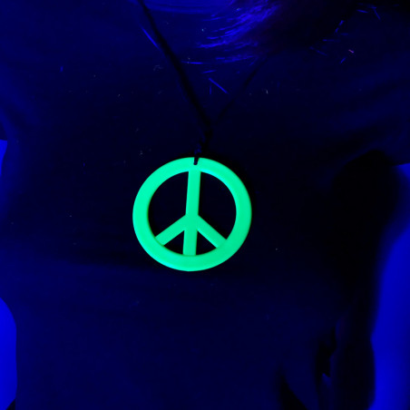 Collier Fluo Peace & Love
