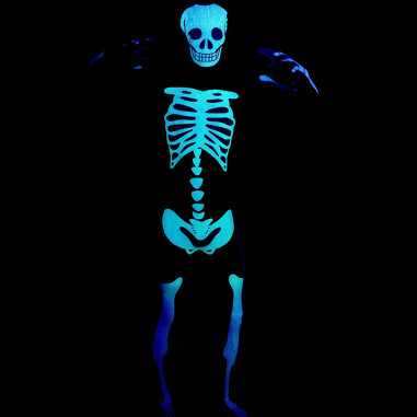 Morphsuit Fluo Squelette