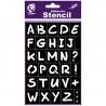 Pochoir Alphabet 12X18 cm