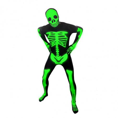 Morphsuit Fluo Squelette
