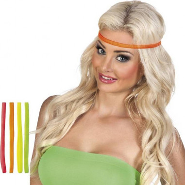 Mini FLuo Stirnbänder - 4er Set