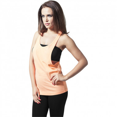 Débardeur Fluo Femme Orange Long