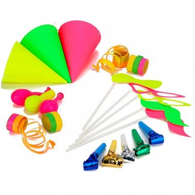 Fluo Party Favor Kit 5 Personen