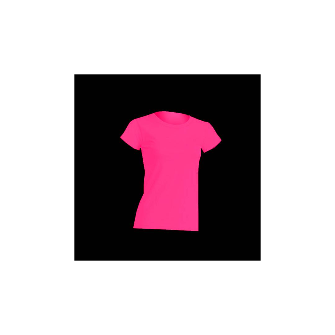 f8a5efb3d5a T-shirt Fluo Femme Rose