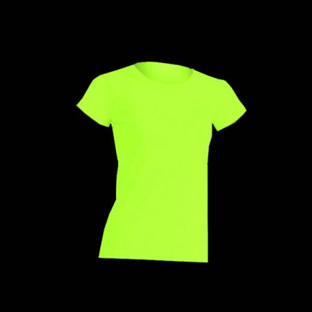 T-shirt Fluo Femme Jaune