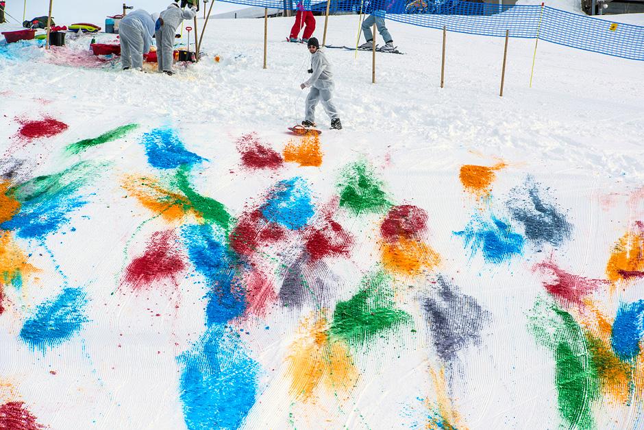 art poudre holi neige