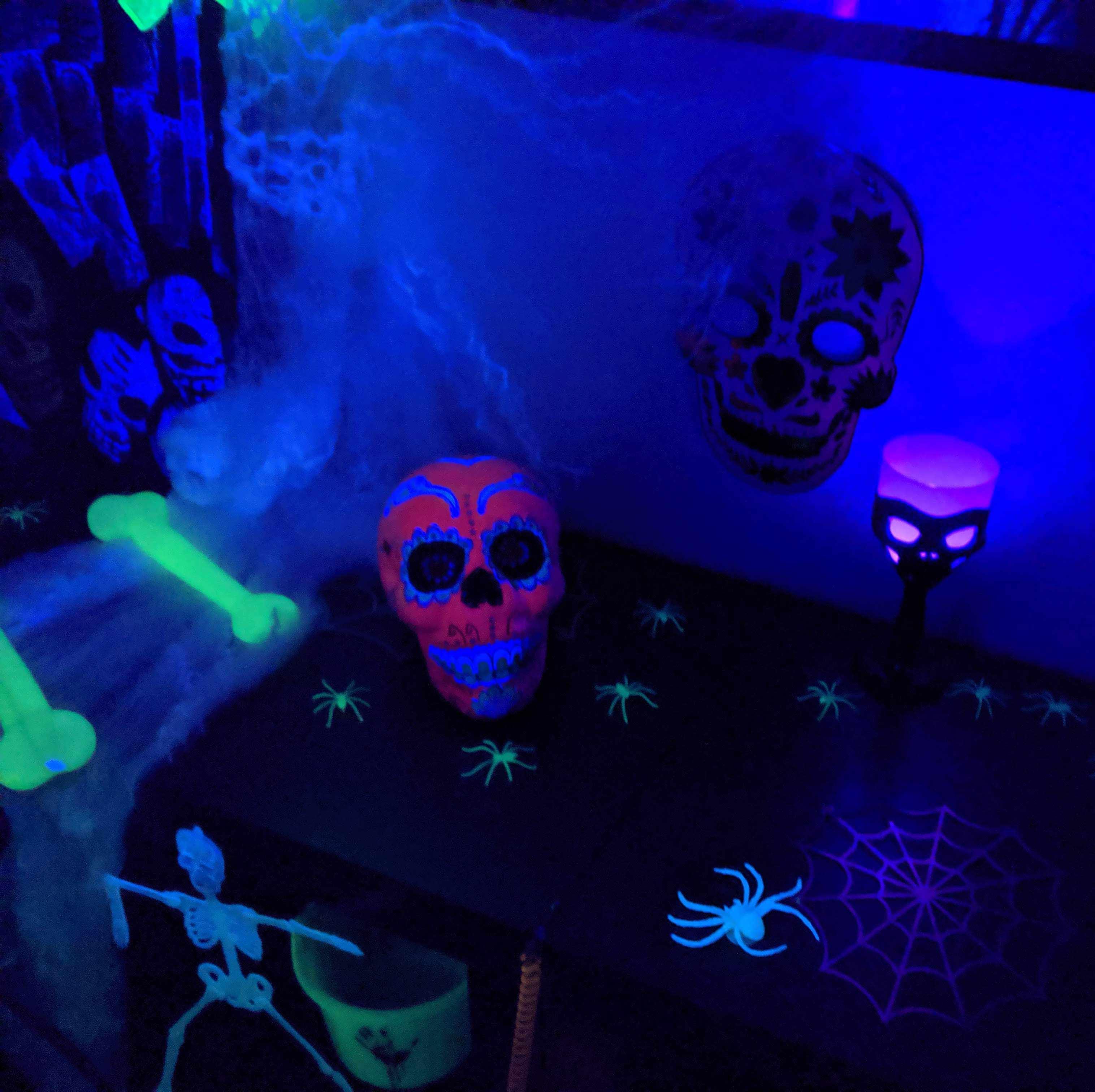déoration Halloween dans le noir