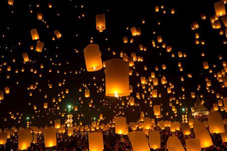 lanterne volante full moon