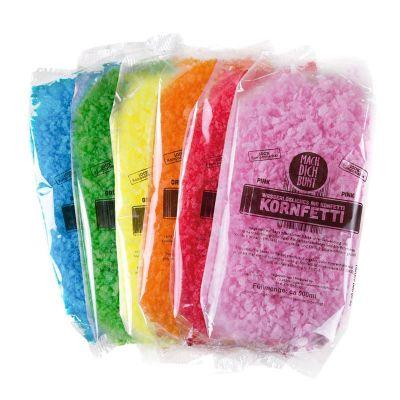 bio confettis carnval fluo