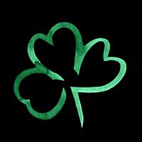 Trèfle Vert saint Patrick